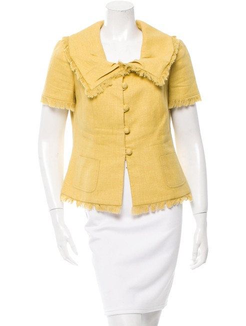 Preload https://item3.tradesy.com/images/dior-yellow-christian-fitted-silk-blouse-size-12-l-23476737-0-0.jpg?width=400&height=650