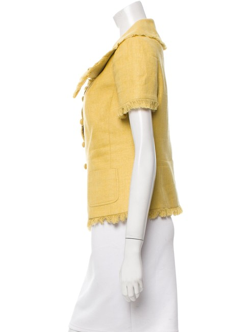 Dior Top Yellow Christian Dior fitted silk