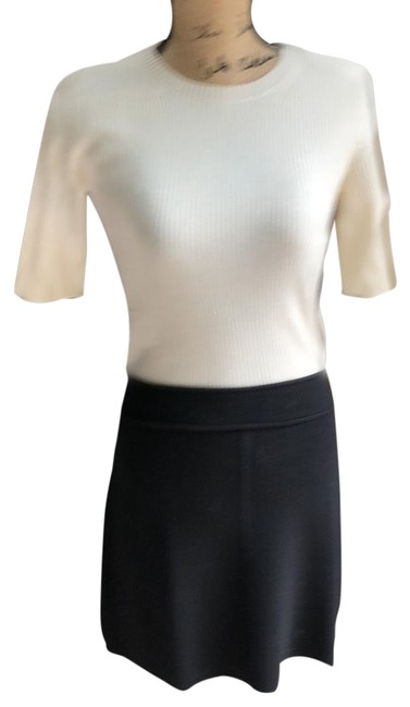 Preload https://item2.tradesy.com/images/theory-blackivory-sleeve-sweater-short-workoffice-dress-size-4-s-23476746-0-1.jpg?width=400&height=650