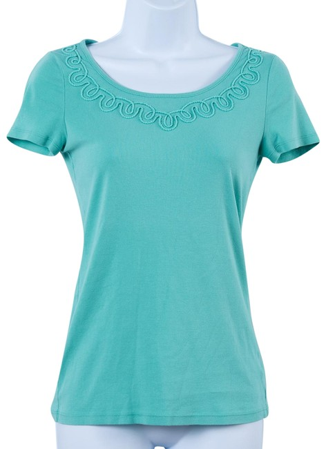 Preload https://item1.tradesy.com/images/talbots-mint-green-cotton-tee-shirt-size-2-xs-23476780-0-1.jpg?width=400&height=650