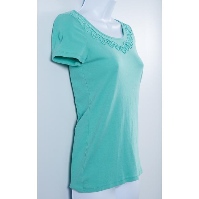 Talbots Pima Cotton T Shirt Mint Green