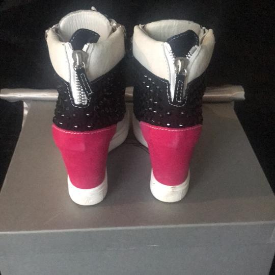 Giuseppe Zanotti Black, Pink And White Athletic