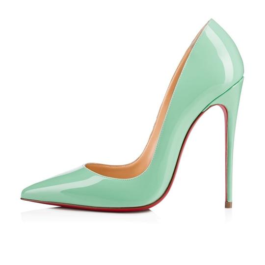 Christian Louboutin Sokate Kate Pigalle Stiletto Patent blue Pumps