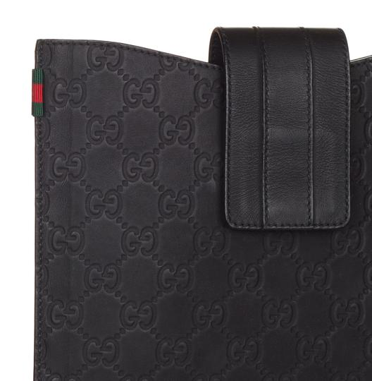 Gucci Gucci Black Rubber GG Guccissima Web Stripe iPad Case