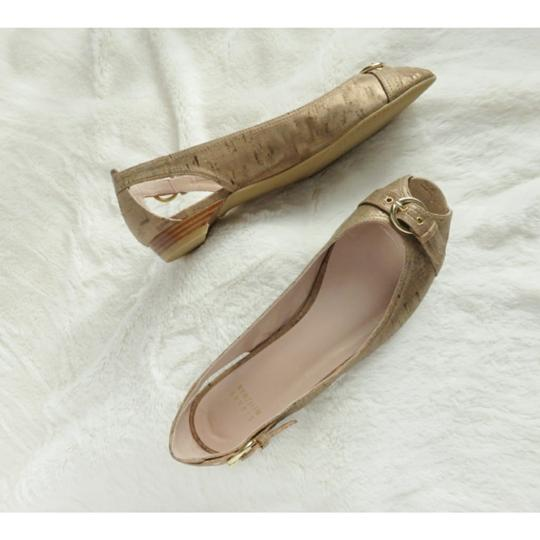 Preload https://item1.tradesy.com/images/stuart-weitzman-metallic-tan-silk-cork-fabric-chit-chat-flats-size-us-95-narrow-aa-n-23476825-0-0.jpg?width=440&height=440