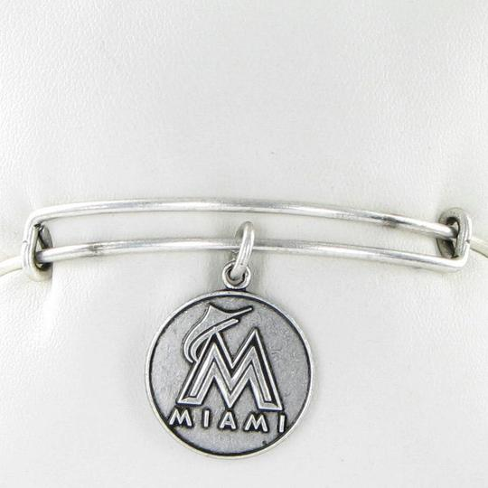 Alex and Ani Miami Marlins MLB Cap Logo Expandable EWB Bracelet Russian Silver