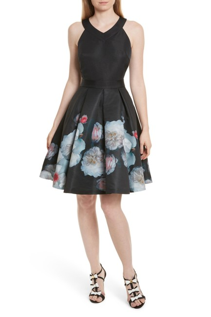 Preload https://img-static.tradesy.com/item/23476869/ted-baker-black-jelina-chelsea-floral-fit-and-short-casual-dress-size-6-s-0-0-650-650.jpg