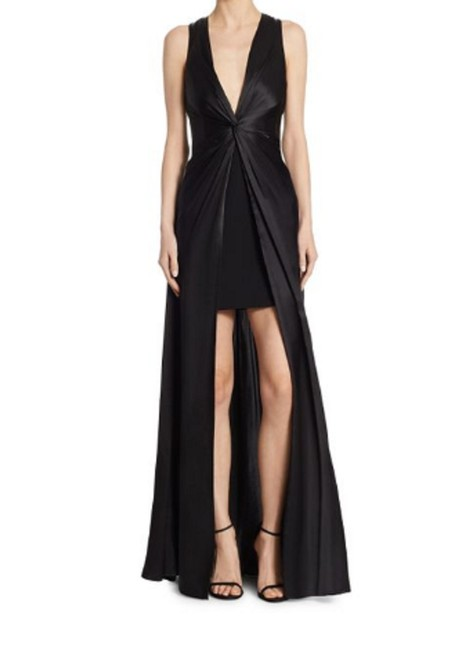 Preload https://item2.tradesy.com/images/cinq-a-sept-black-view-fullscreen-women-s-elio-twist-hi-lo-gown-long-formal-dress-size-8-m-23476876-0-0.jpg?width=400&height=650