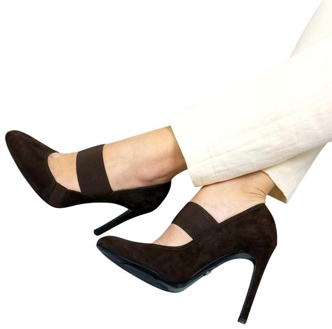 Item - Brown New Women Suede Leather Mary Jane Classic High Heel Pumps Size US 11 Regular (M, B)