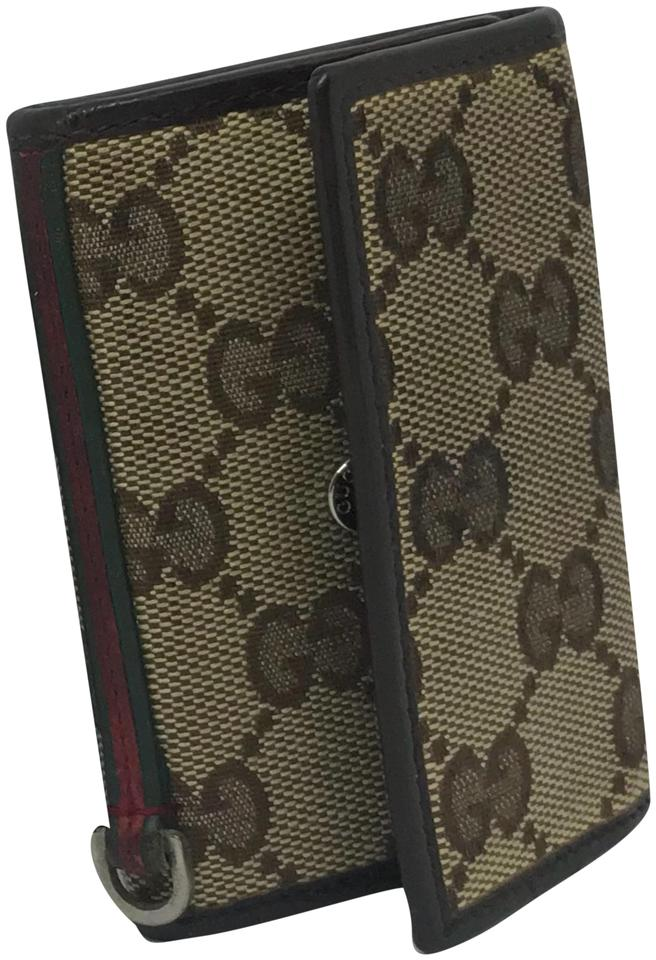 c918d6f4424 Gucci Brown Gg Key Holder Wallet - Tradesy