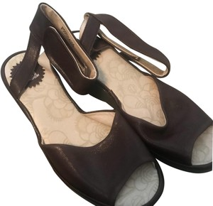 FLY London Brown Wedges
