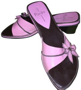 Linea Paolo brown & dusty rose Sandals