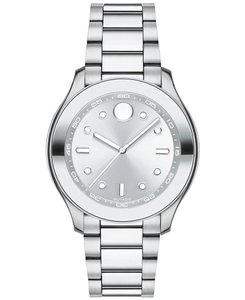Movado Stainless Steel Bracelet Silver Dial Bold 3600415
