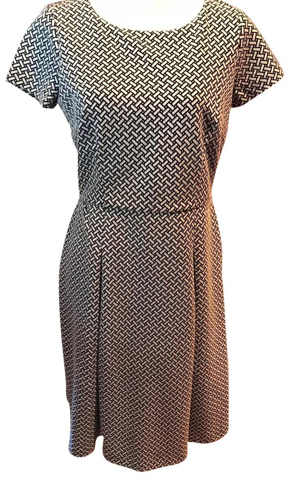1f9f88cb424 Talbots Black and White Mid-length Work Office Dress Size 6 (S ...