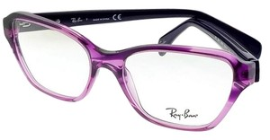 Ray-Ban RX5341-5570 Square Women's Purple Frame Clear Lens Eyeglasses