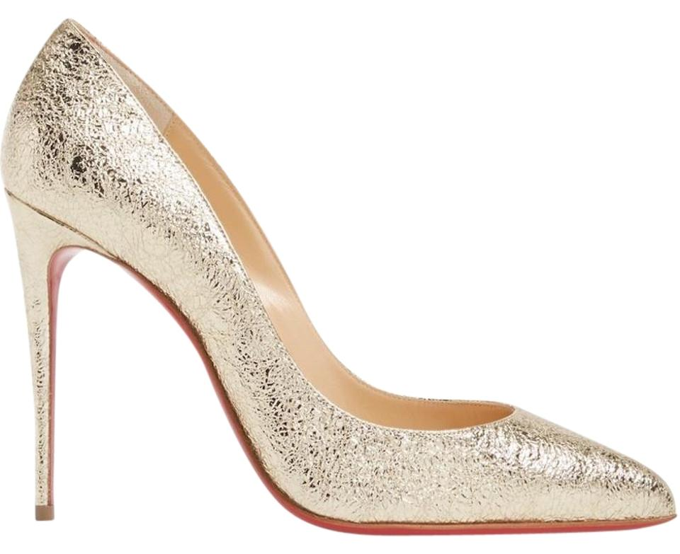 aadd5fe909dd Christian Louboutin Pigalle Stiletto Classic Leather Metallic gold Pumps  Image 0 ...