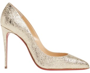a4af6d62173 Christian Louboutin Pigalle Stiletto Classic Leather Metallic gold Pumps