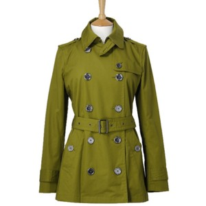 Burberry Brit Windbreaker Check Signature Double Breasted Trench Coat