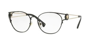 Versace Versace Men Round Eyeglasses VE1250 1009 Black/Gold Frame Demo Lens