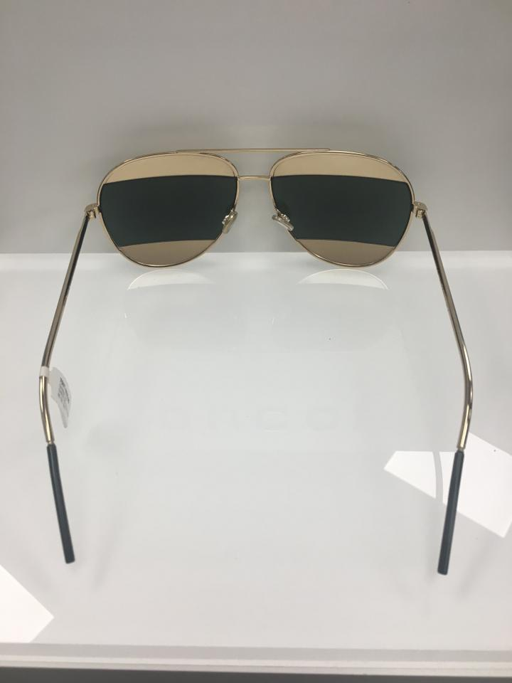 e2771594f700 Dior Gold Green Lens- 000 85 Christian Women s Split 1 S 000 85 Fashion  Sunglasses - Tradesy