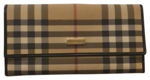 Burberry Burberry Nova check black trim bifold coin purse wallet