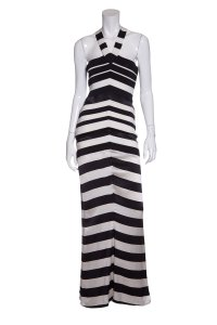Navy & White Maxi Dress by Gianfranco Ferre