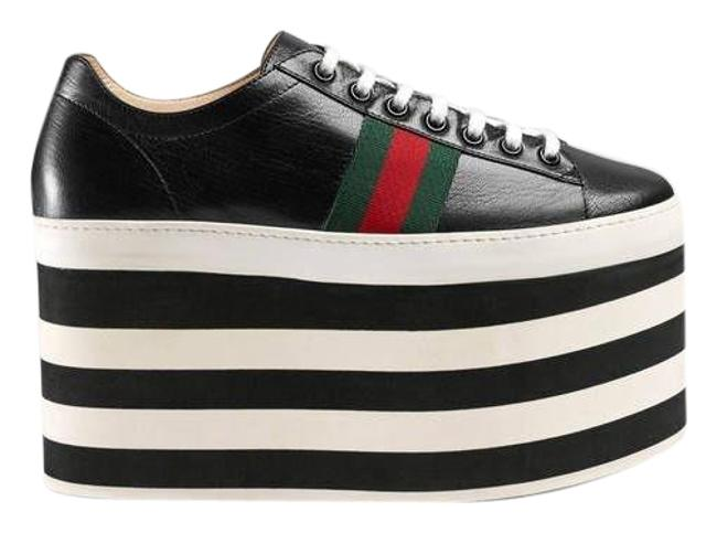 Item - Web Leather Platform Sneakers Size EU 36 (Approx. US 6) Regular (M, B)