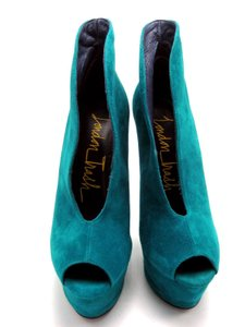 London Trash Stiletto Teal Platforms