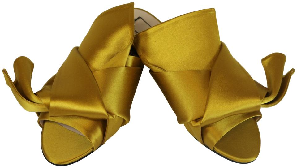eab598df4987 N°21 Yellow No21 Bow Mules Flats Size EU 36.5 (Approx. US 6.5 ...