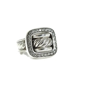 David Yurman David Yurman Sterling Silver .49tcw Diamond Buckle Ring