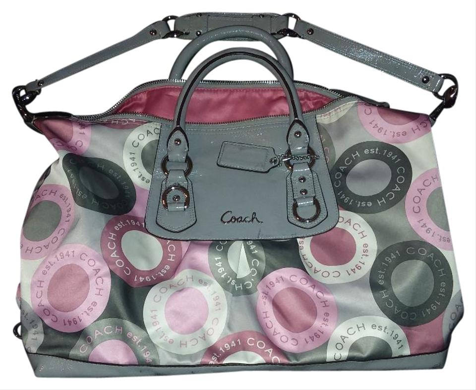 fbe7d0c885 ... pink and grey coach purse f6f1d 5a33d coupon code for coach purse  leather sateen shoulder bag 93546 9e7bb ...