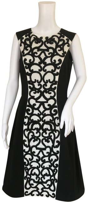 Pamella Roland Black and White Mid-length Cocktail Dress Size 8 (M) Pamella Roland Black and White Mid-length Cocktail Dress Size 8 (M) Image 1