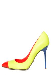 Sergio Rossi Neon Yellow Pumps