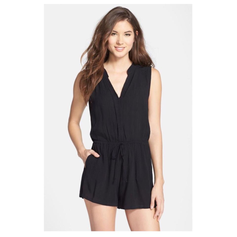 21b5377d3403 Elan Black Sleeveless Romper Shorts Jumpsuit Cover-up Sarong. Size  8 ...