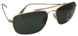 Ray-Ban New RAY-BAN Sunglasses THE COLONEL 3560 001 61-17 Gold Aviator w/ G15