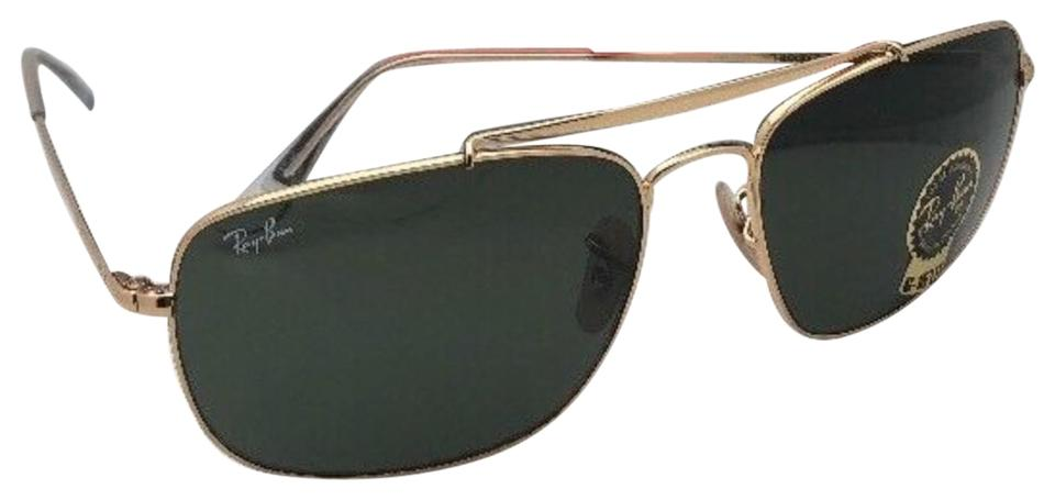 0f9439d526 Ray-Ban New The Colonel Rb 3560 001 61-17 Gold Aviator W  G15 Green ...