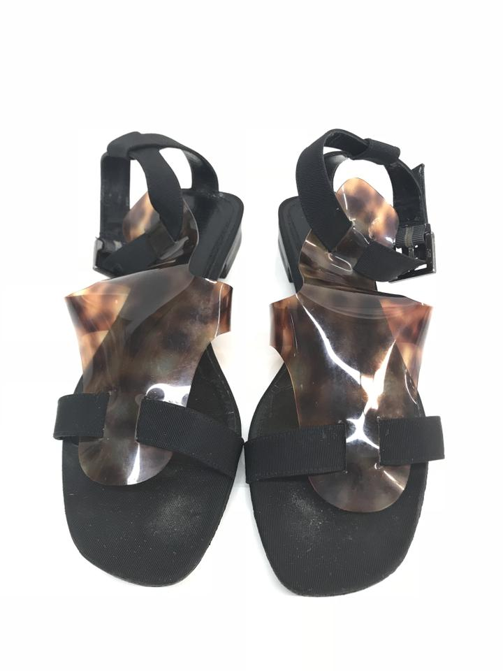 24e15eebf01 Givenchy Black Tortoise Gladiator Sandals Size EU 38 (Approx. US 8 ...