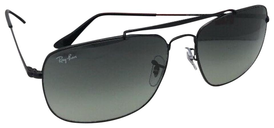 70297cff60 Ray-Ban New The Colonel Rb 3560 002 71 61-17 Black Aviator W  Grey Gradient  002 71 Sunglasses