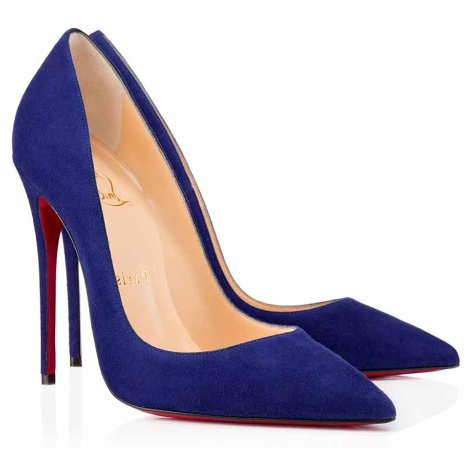 379927518374d2 Christian Louboutin Sokate Kate Pigalle Stiletto Suede blue Pumps Image 0  ...