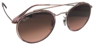 Ray-Ban New RAY-BAN Sunglasses ROUND DOUBLE BRIDGE 3640-N 9069/A7 Pink Bronze