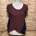 Anthropologie Top Pink Navy Blue Image 1