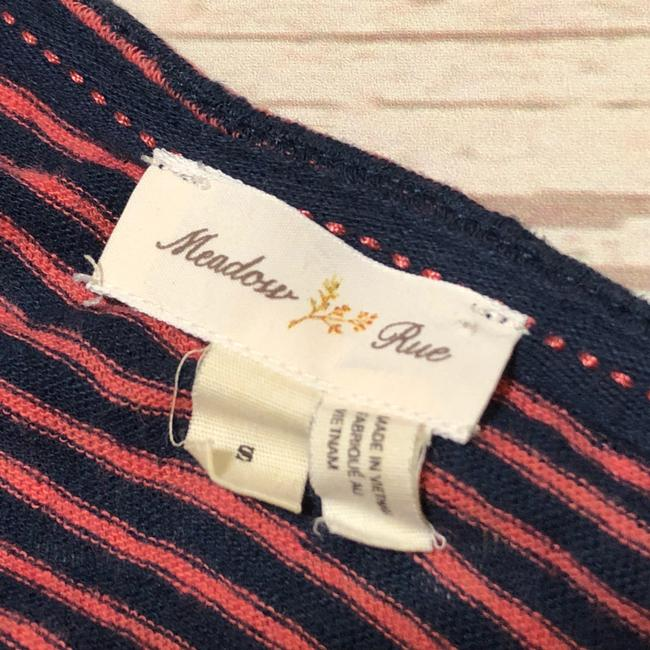 Anthropologie Top Pink Navy Blue Image 6