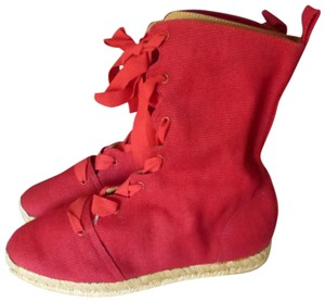 Hermès RED CANVAS Boots