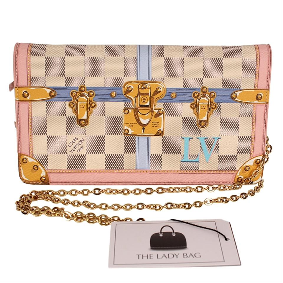 51932a8bccbb Louis Vuitton Azur Canvas Limited Edition Wallet On A Chain Cross Body Bag  Image 11. 123456789101112