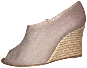 Christian Louboutin putty Wedges