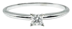 Kay Jewelers 14k White Gold Authentic Princess Cut Solitaire Diamond Engagement Ring Size 8