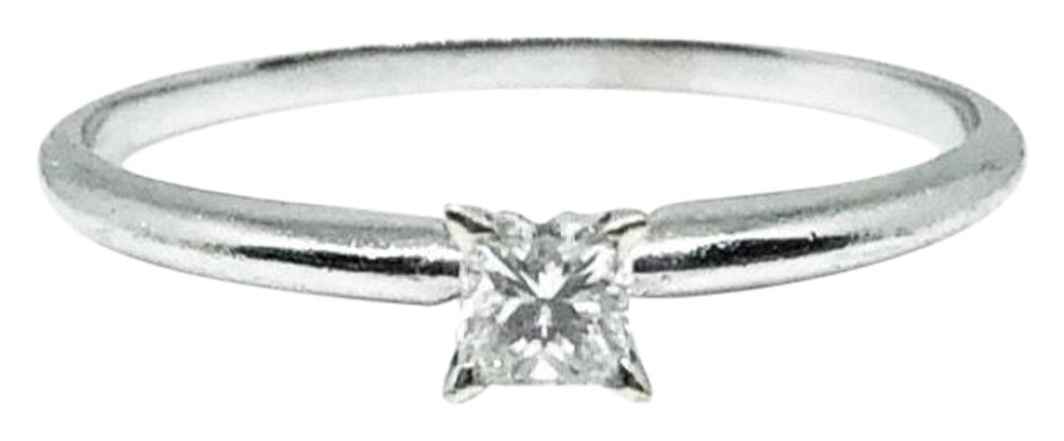 Kay Jewelers White Gold 14k Princess Cut Solitaire Diamond Engagement Size  8 Ring 78% off retail