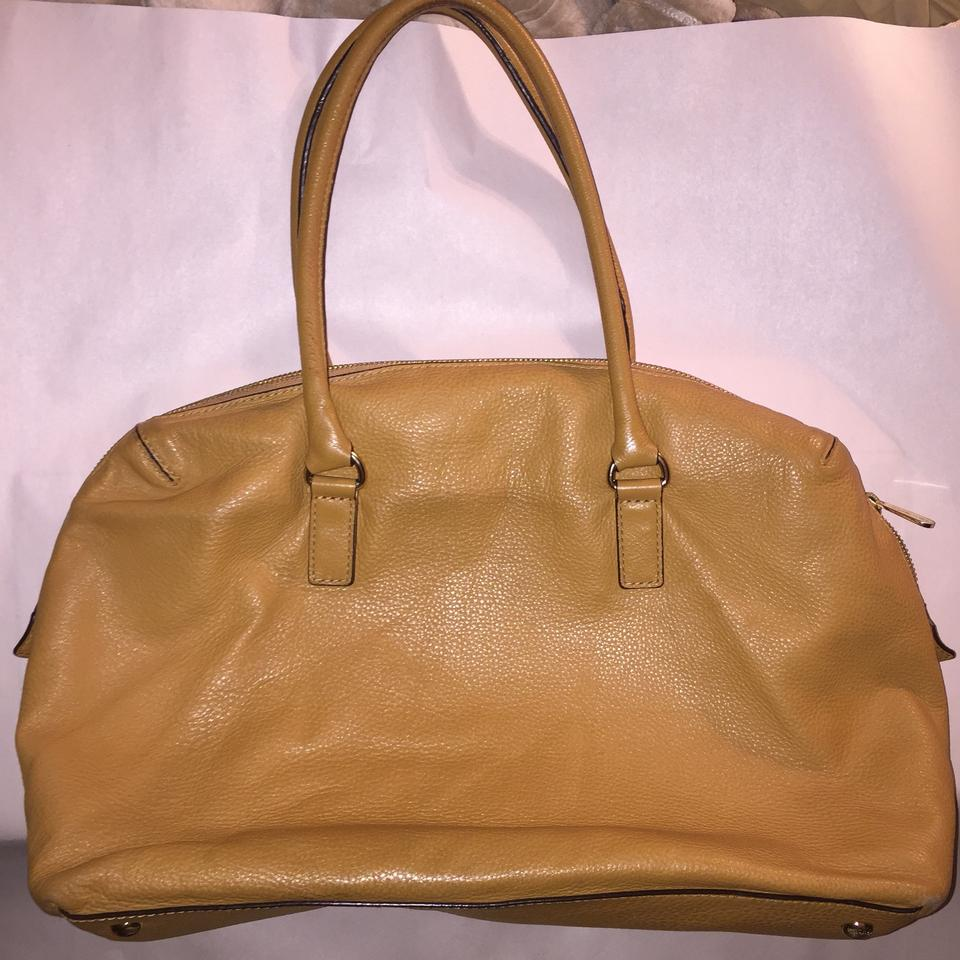 Michael Kors Pebbled Overnight Camel Tan Leather Weekend Travel Bag 64 Off Retail