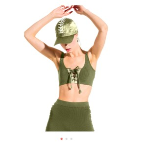 FENTY PUMA by Rihanna fenty Puma green lace up bra