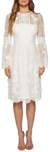 Monique Lhuillier Lace Anthropologie Bell Sleeve Wedding Dress